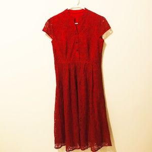 Last Chance! Metisu Red Lace Dress  516
